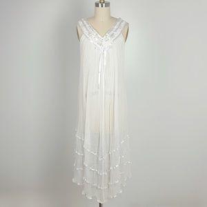 Dresses & Skirts - White Crochet Dress / Coverup